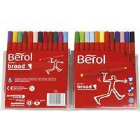 Berol Colour Broad FIbre Tipped Pen 24-pack