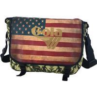 Axelremsväska med USA-flagga, GOLA