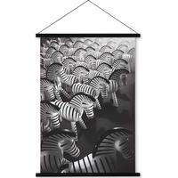 Kay Bojesen Zebra Print On Canvas 59cm Picture Frames