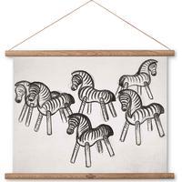 Kay Bojesen Zebra Print on Canvas 30cm Billedrammer