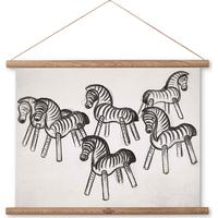 Kay Bojesen Zebra Print on Canvas 33cm Picture Frames