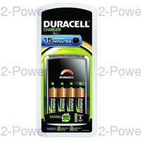 Duracell 15 min Laddare + 4 AA Batterier