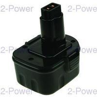 2-Power Verktygsbatteri Dewalt 12V 3000mAh (DE9037)