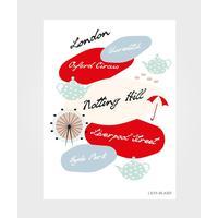 Lilys Island Poster London City 50x70cm
