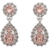 Lily and Rose Sofia Tin Earrings w. Pink - 3.5cm (60651)