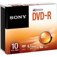 Sony DVD-R 4.7GB 16x Slimcase 10-Pack