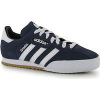 adidas Samba Suede Junior Indoor Football Trainers Blue/White