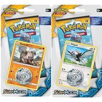 Pokémon, Sun & Moon, Checklane Blister Pack x 2 (Pikipek & Rockruff)
