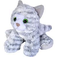 "Wild Republic Grey Tabby Cat Stuffed Animal 7"""