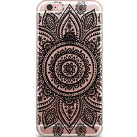 Bjornberry Clear TPU Case - Henna Mandala (iPhone 7 Plus)
