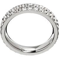Edblad Glow Double Stainless Steel Ring w. Transparent - XL (82579)