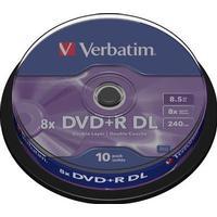 Verbatim dvd+r dl, 8x, 8,5 gb/240 min, 10-pack spindel, azo (436