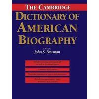The Cambridge Dictionary of American Biography (Inbunden, 1995), Inbunden