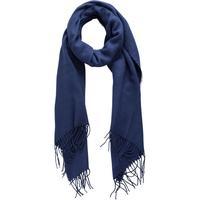 Pieces Long Woven Scarf Blue/Navy Blazer