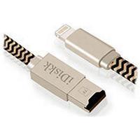 iDiskk Ladekabel med Micro-SD Kortlæser - 0,9m