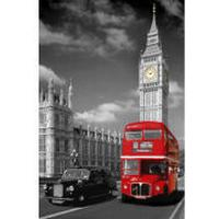 GB Eye London Big Ben Bus & Taxi 61x91.5cm Affisch