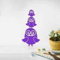 Ferm Living Wallsticker Three Owls - Lilla
