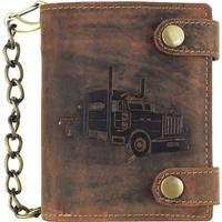 Greenburry Vintage Trucker Leather Wallet - Antique Brown (1796a-TRUCK-25)