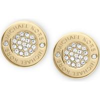 Michael Kors Pave Stainless Steel Earrings w. Transparent Cubic Zirconium (MKJ3351)