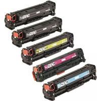 HP 201X Set Plus BK (2 x CF400X + CF401X + CF402X + CF403X) 9700 sidor. Kompatibla (ej HP original) tonerkassetter. Fri Frakt!