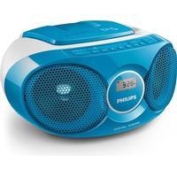 Philips butikken Musikanlæg m. Radio og CD - AZ215, Blå - Philips