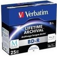Verbatim BD-R 25GB 4x Jewelcase 5-Pack Inkjet