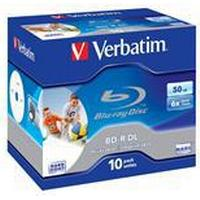 Verbatim BD-R No ID Brand 50GB 6x Jewelcase 10-Pack Wide Inkjet