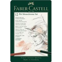 Faber-Castell PITT Monochrome Tin of 12