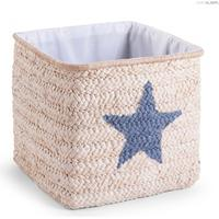 Childhome Box Straw Woven Basket Star & Cloud