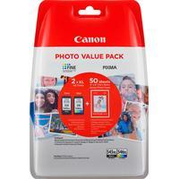 Multi Pack! Canon PG-545XL + CL-546XL bläckpatron original + 50 st. fotopapper