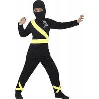 Smiffys Ninja Dragon Fighter Kinderkostüm schwarz-gelb-Kinder 10-12