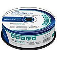 MediaRange DVD+R 8.5GB 8x Spindle 25-Pack Wide Inkjet
