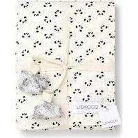 Liewood Økologisk Sengetøj fra Panda Creme (100x140cm)