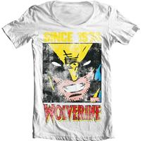 Wolverine Since 1974 Wide Neck Tee White Large