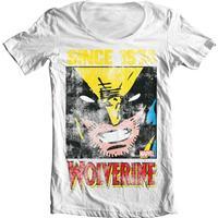 Wolverine Since 1974 Wide Neck Tee White Medium