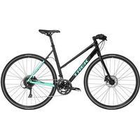 Trek Zektor 3 Step Thru 2018 Womens Hybrid Bike | Black/Green - 53cm