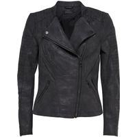 Only Leather Look Jacket - Black/Black