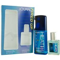 Jovan Heat Fired Up 60mL As Col Sp & 250mL Cologne Body Spray