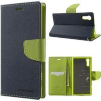 Mercury Fancy Diary fodral för Sony Xperia XZ - mörkblå