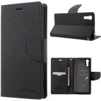 Mercury Fancy Diary fodral för Sony Xperia XZ - svart