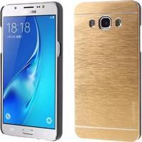 Motomo skal i borstad aluminium för Samsung Galaxy J5 (2016) - guld