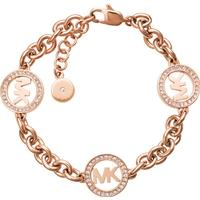 Michael Kors Logo Stainless Steel Rose Gold Plated Bracelet (MKJ4731791)