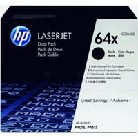 HP Tonerkassett svart *2-pack* CC364XD