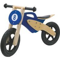 Trampcykel Trämotorcykel Brun/Blå