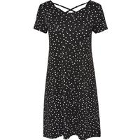 Only Loose Short Sleeved Dress Black/lack