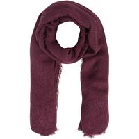 Pieces Solid Woven Scarf Red/Fig