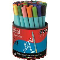 Berol Tipped Pen Colour Fine Fibre 0.6mm 42-pack