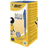 Bic M10 Retractable Ballpoint Pen Blue 50-pack