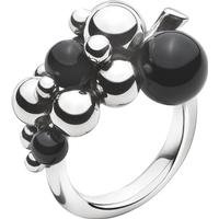 Georg Jensen Moonlight Grapes Silver Ring w. Black Onyx - S (3559060)