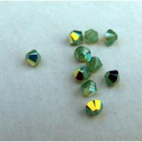 Swarovski crystals Bicone (5328) - Pacific Opal AB 4mm, 10- pack